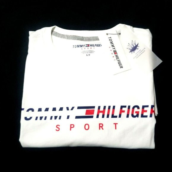 NWT Tommy Hilfiger Men Crew Neck Logo Tee T Shirt Classic Fit Solid Short Sleeve